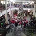 "A flashmob engages in a round dance at a Regina mall as part of the ""Idle No More"" protests."