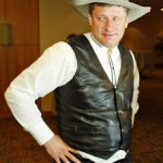 Stephen Harper at the 2005 Calgary Stampede.