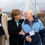 Christy Clark opens Port Man Bridge