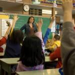 An elementary classroom.