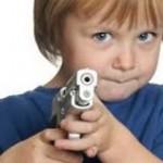 Child with gun.