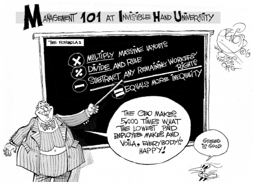Beware the Invisible Hand University's math.
