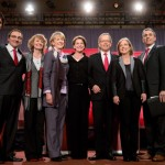 Justin Trudeau, Martin Cauchon, Karen McCrimmon, Joyce Murray, Martha Hall Findlay, George Takach, Deborah Coyne, David Bertschi