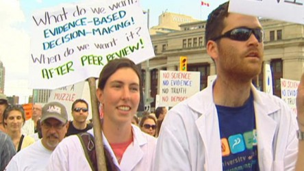 Muzzled scientists.